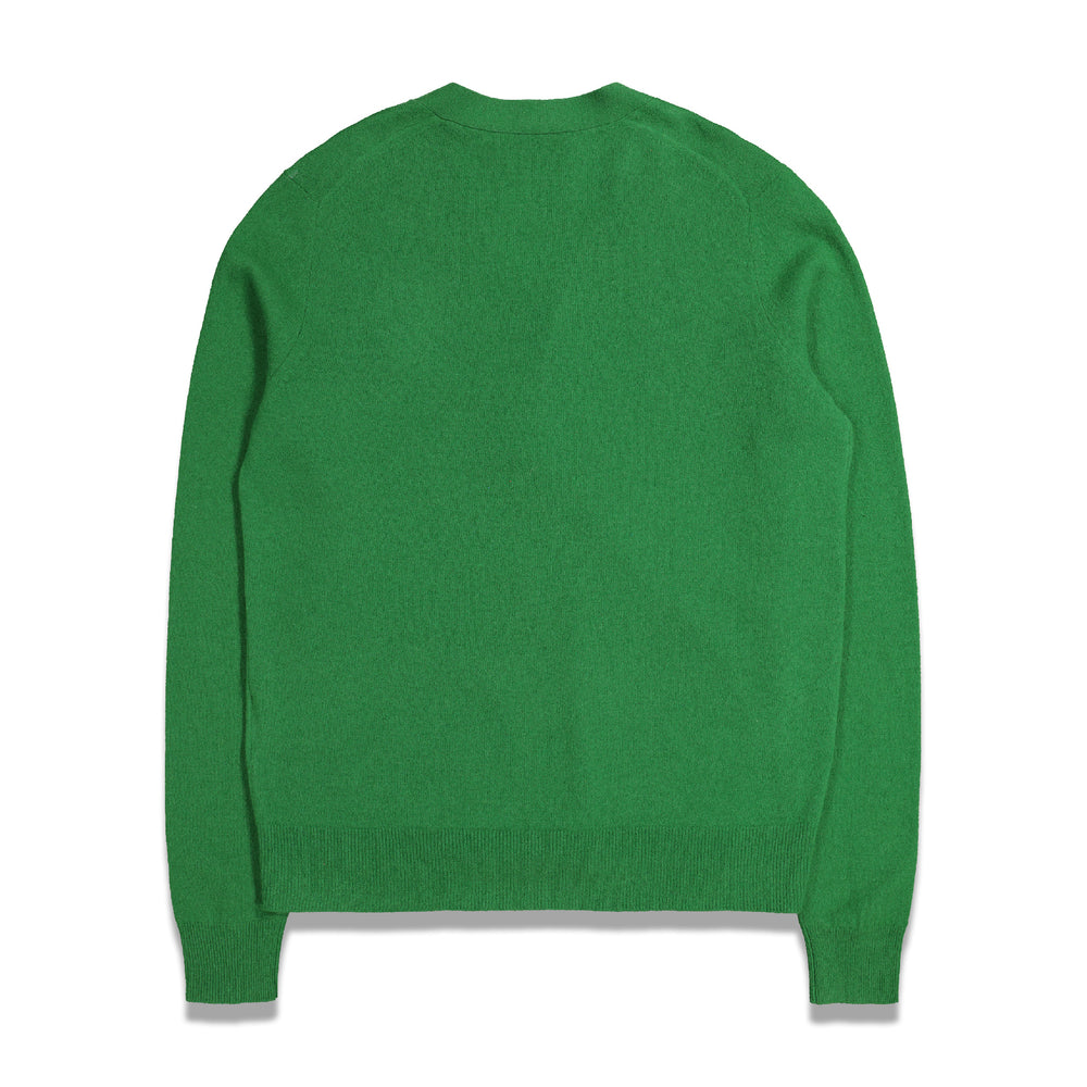 Acne Studios Keve Face Cardigan In Deep Green - CNTRBND