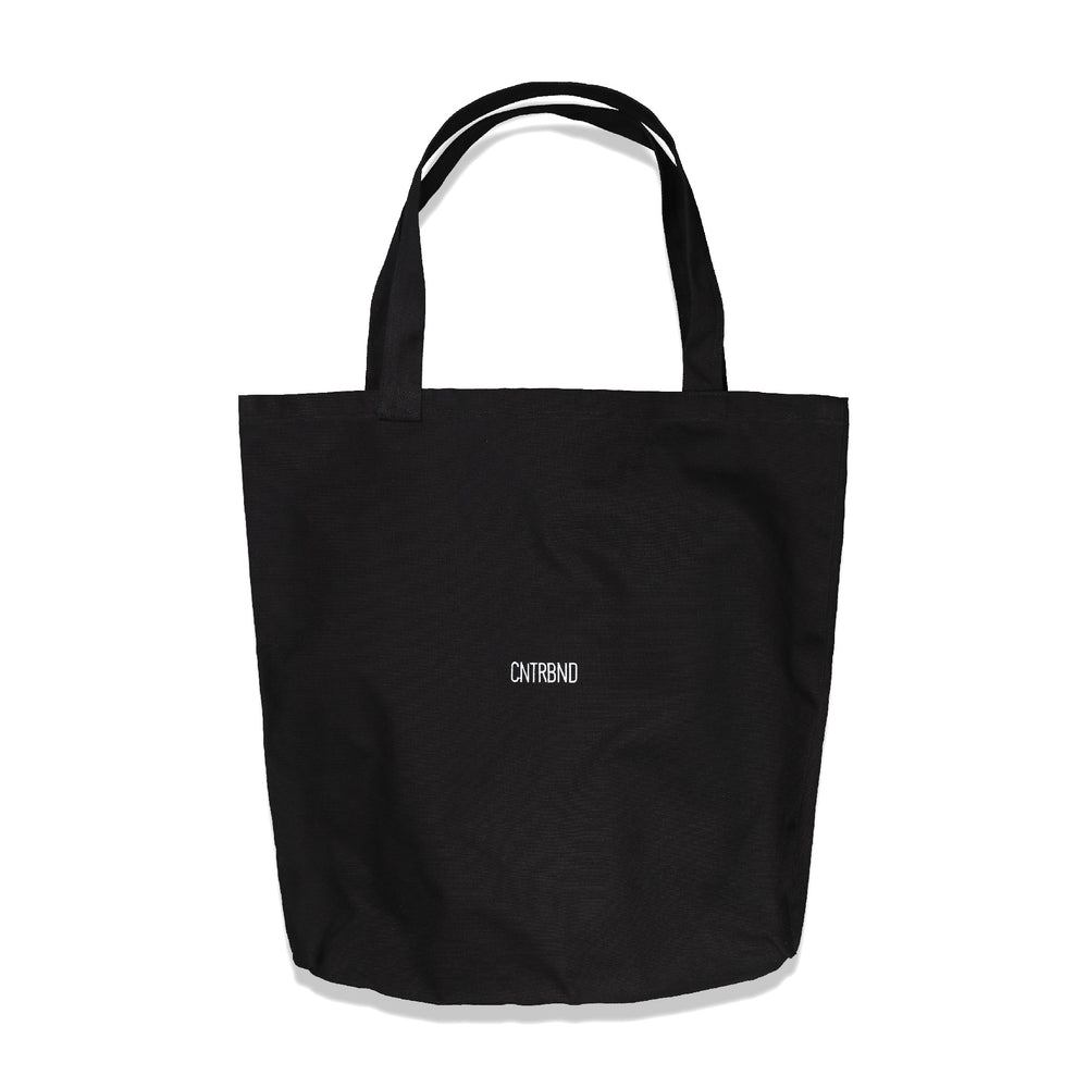 CNTRBND Logo Giant Tote In Black