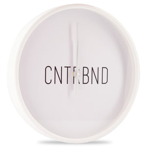 Load image into Gallery viewer, CNTRBND Logo Clock In White