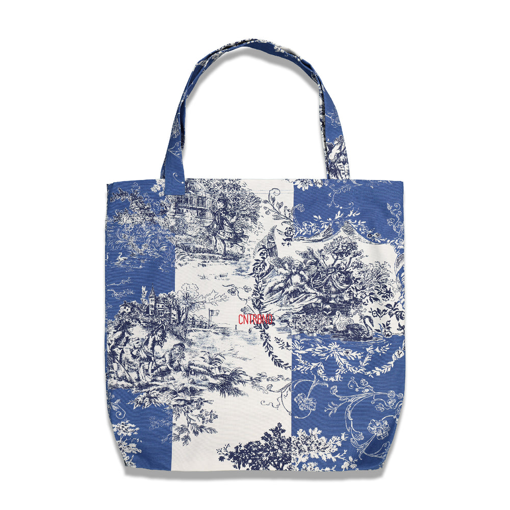CNTRBND Logo Giant Tote In Blue/White (Chinese Lunar Year Edition)