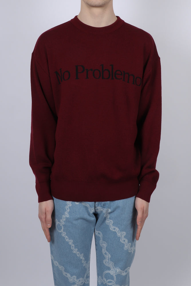 Aries No Problemo Jumper In Wine - CNTRBND