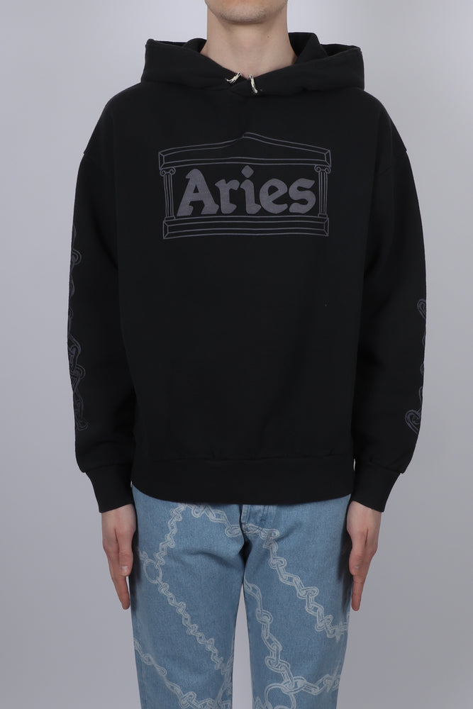 Aries 2 Chain Hoodie In Black front
