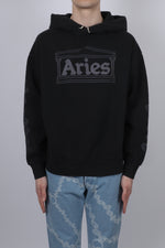 Aries 2 Chain Hoodie In Black