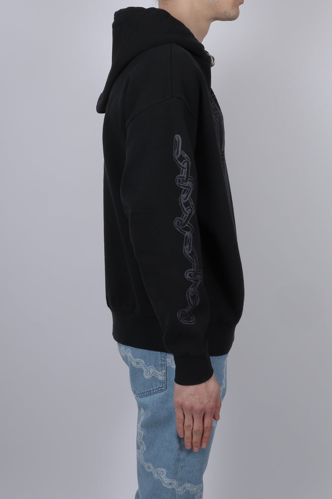 Aries 2 Chain Hoodie In Black side