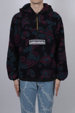 Aries Paisley Half Zip Fleece In Black