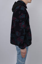 Aries Paisley Half Zip Fleece In Black - CNTRBND