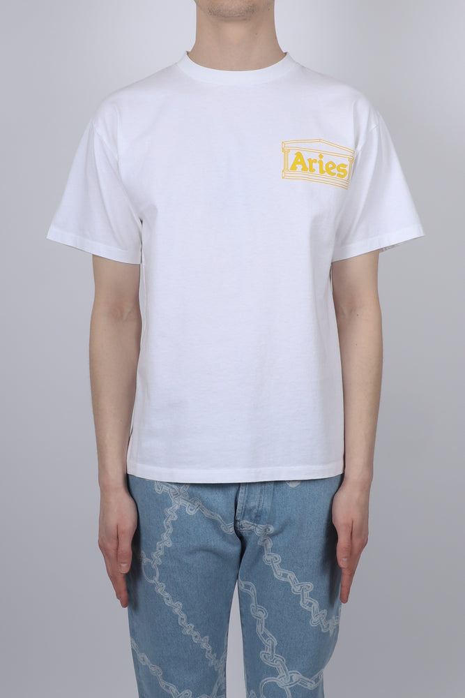 Aries Classic Temple S/S Tee In White - CNTRBND