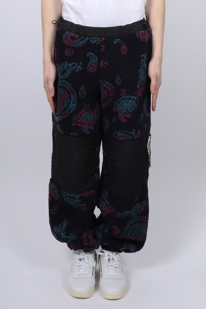 Aries Paisley Fleece Track Pants In Black