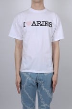 Aries I Heart Aries S/S Tee In White
