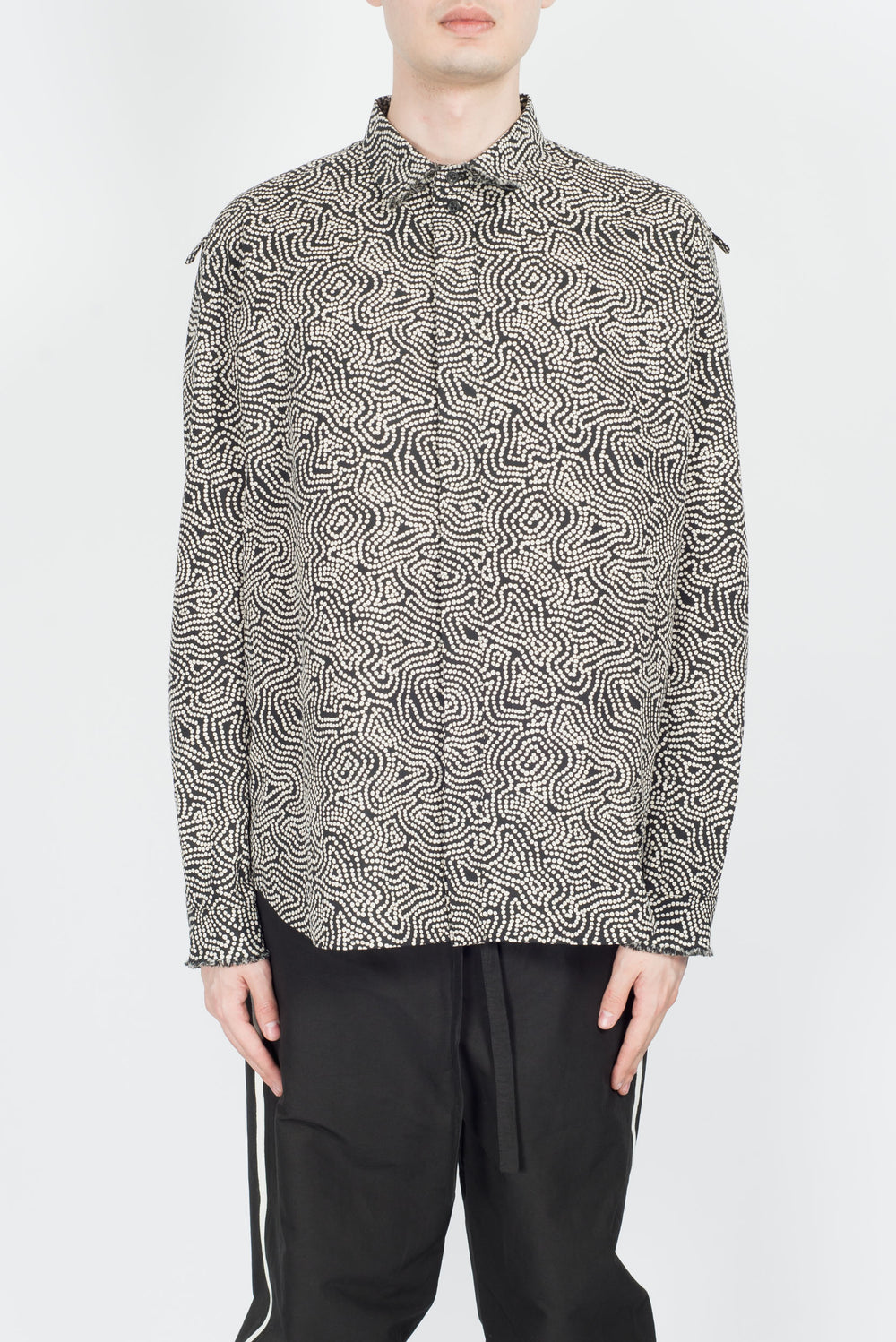 Damir Doma Sten Shirt In Coal/Chalk