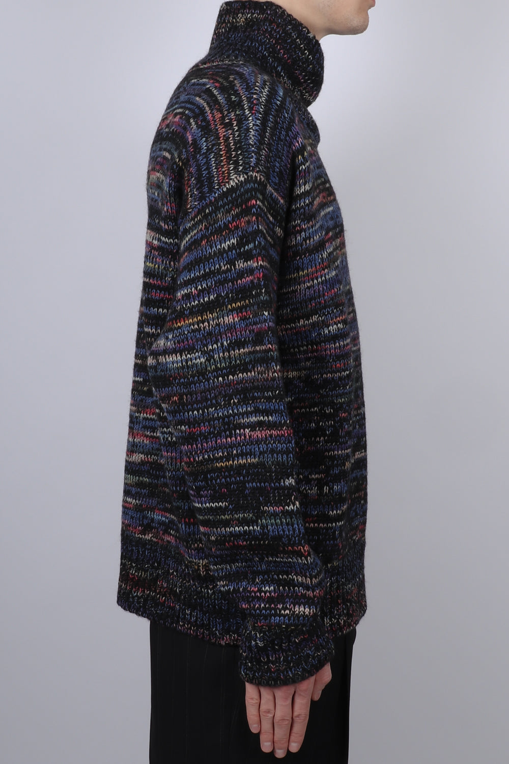 Dries Van Noten Tanish Knitted Sweater In Black