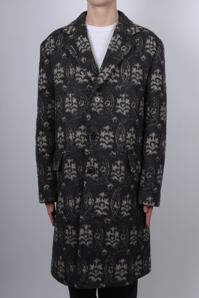 Dries Van Noten Rawlins Long Coat In Anthracite