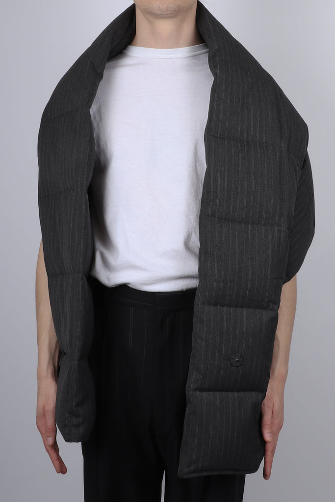 Dries Van Noten Gabe Pin Stripe Vest In Anthracite