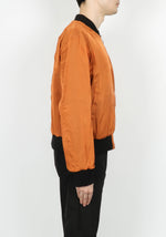 424 Silk Chiffon Bomber In Orange - CNTRBND