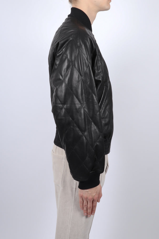 Haider Ackermann Lunar Leather Bomber Jacket In Black