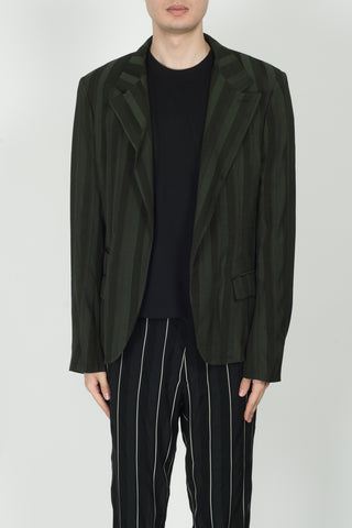 Haider Ackermann Kunzite One Button Blazer In Khaki