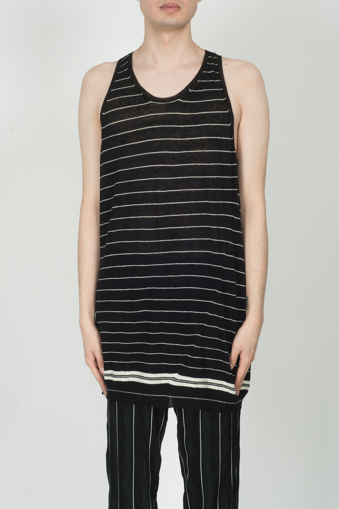 Haider Ackermann Haddad Knitted Tanktop In Black