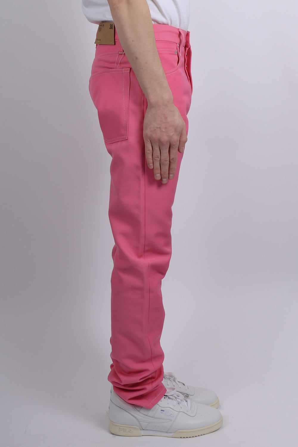 Helmut Lang Masc Hi Straight Denim In Prism Pink