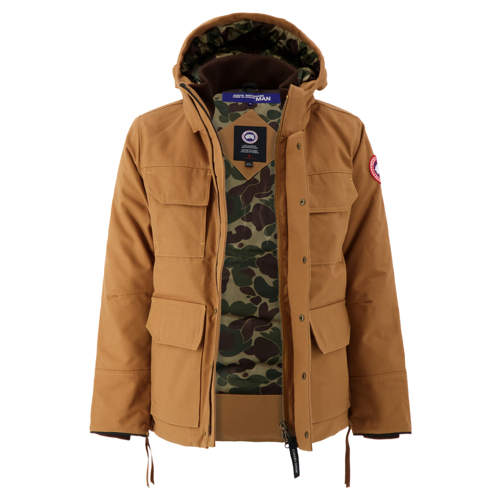 Load image into Gallery viewer, Canada Goose x Junya Watanabe Down Jacket In Brown open front