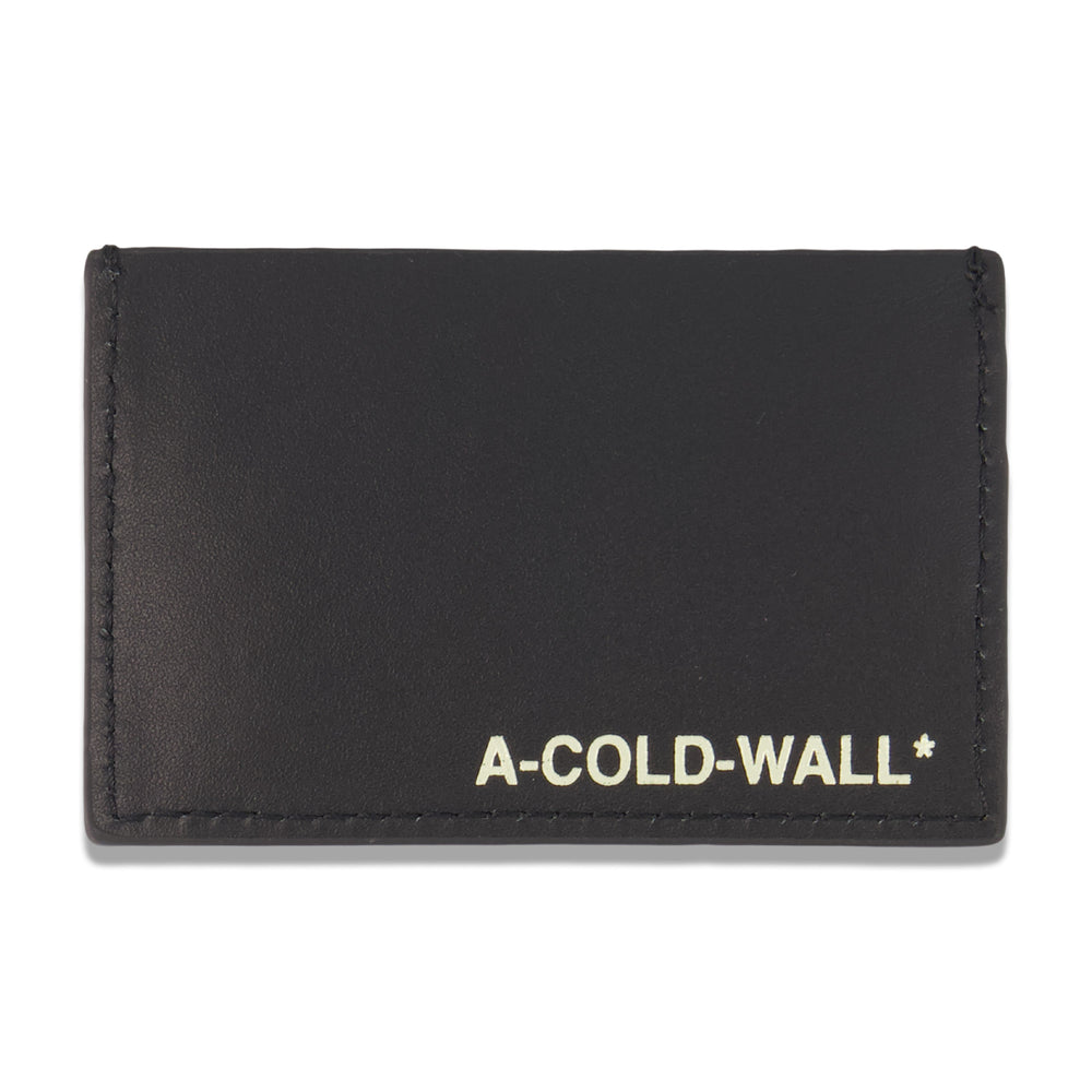 Leather Card Holder In Black