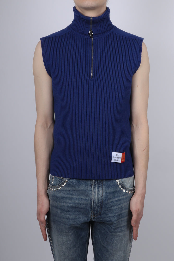 Martine Rose Sleeveless Knit In Navy - CNTRBND