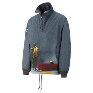 Load image into Gallery viewer, Printed Half Zip Pullover In Grey - CNTRBND