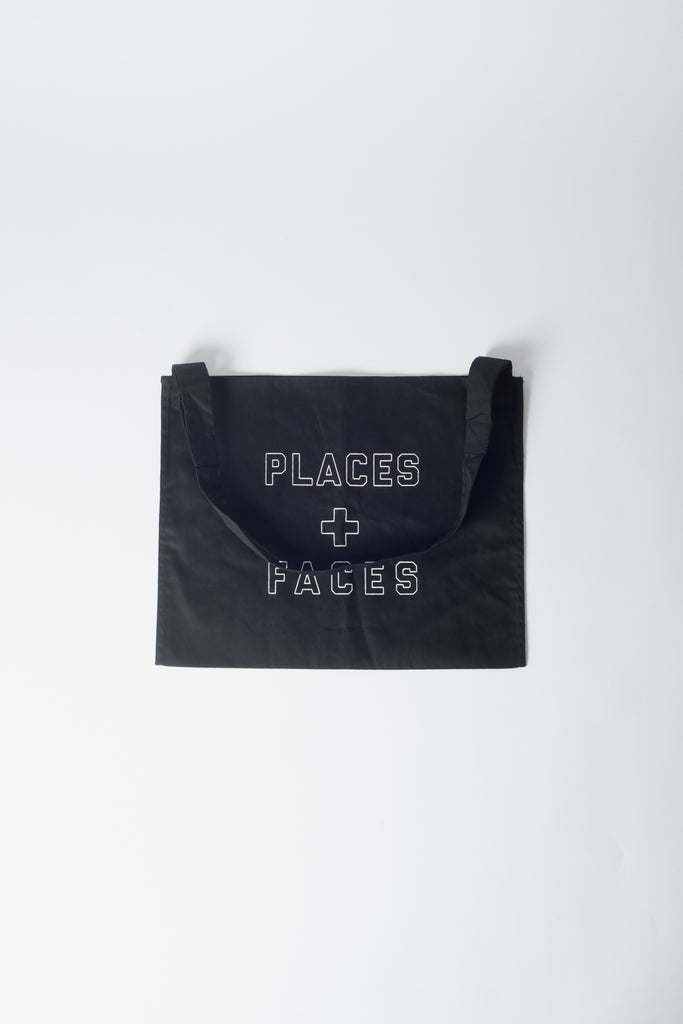 Places+Faces Outline Logo Tote Bag In Black