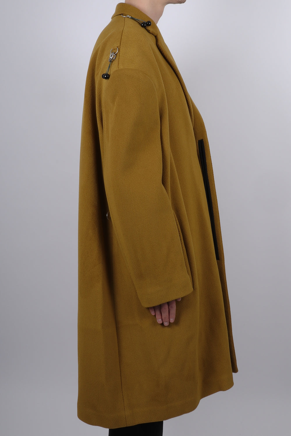 Raf Simons Back Rings A-Line Coat In Pistache