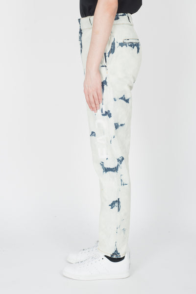 Alexander Wang Super Bleached Faded Denim Pants In Bleached Indigo