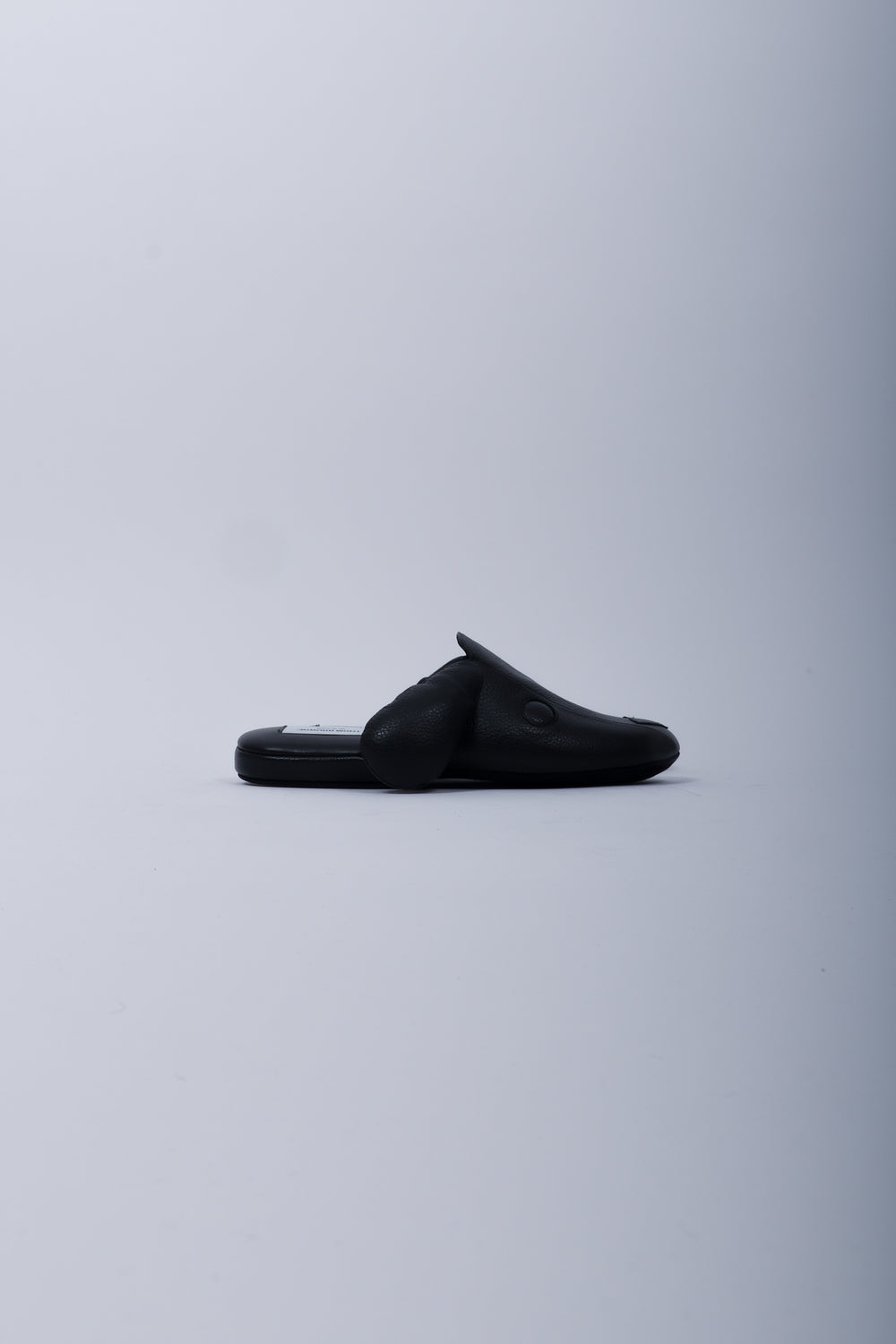 Thom Browne Leather Hector Slipper In Black