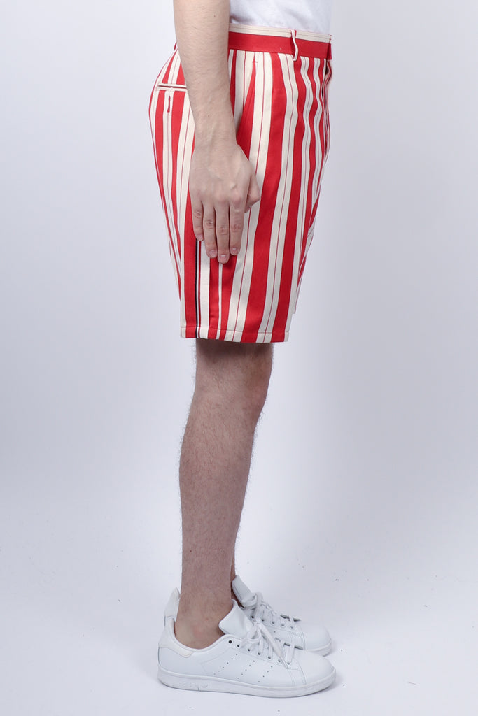 Thom Browne Selvedge Placed Unconstructed Short In Stripe