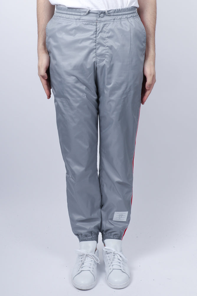 Thom Browne RWB Stripe Ripstop Track Pants In Lt Grey
