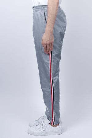Load image into Gallery viewer, Thom Browne RWB Stripe Ripstop Track Pants In Lt Grey