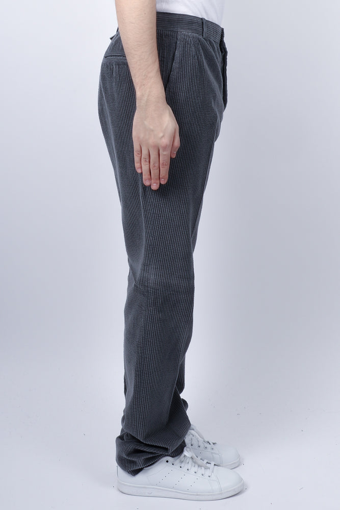 Thom Browne Unconstructed Corduroy Chino In Med Grey