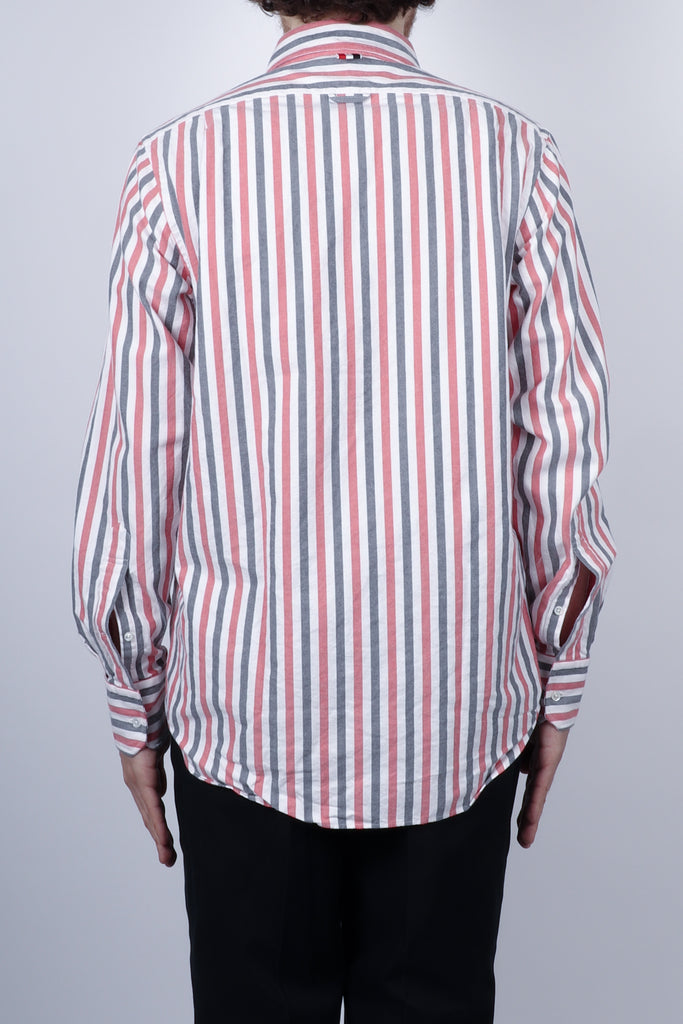 Thom Browne Wide University Stripe Shirt In RWB