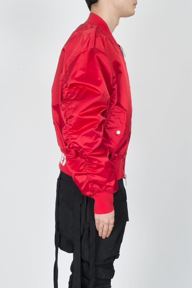 UNRAVEL Explicit NYL Chop Over Bomber In Red - CNTRBND