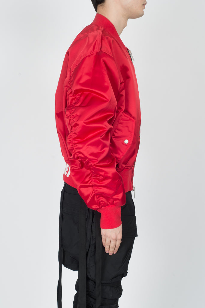 UNRAVEL Explicit NYL Chop Over Bomber In Red