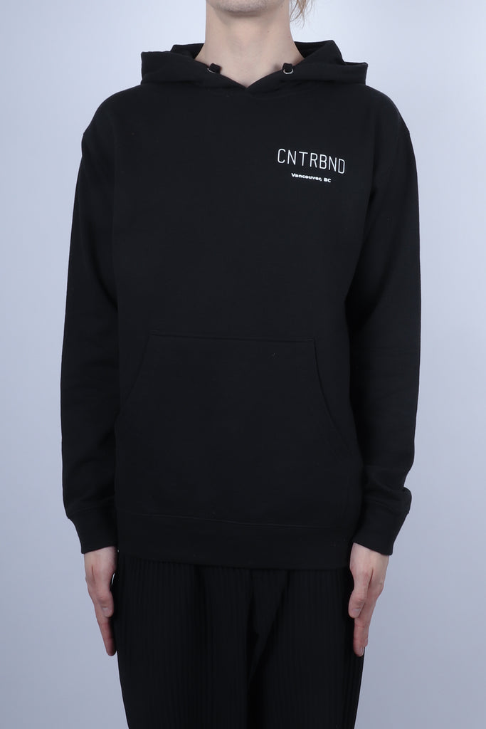 CNTRBND VANCOUVER City Hoodie In Black