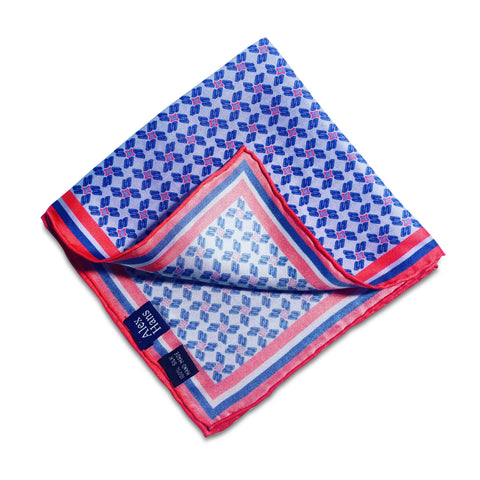 Silk Daisey Pocket Square