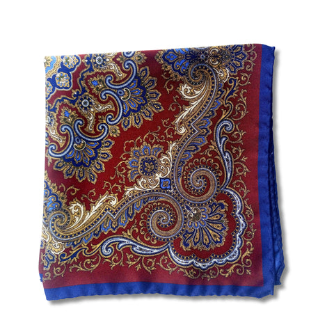 Silk Paisley Pocket Square