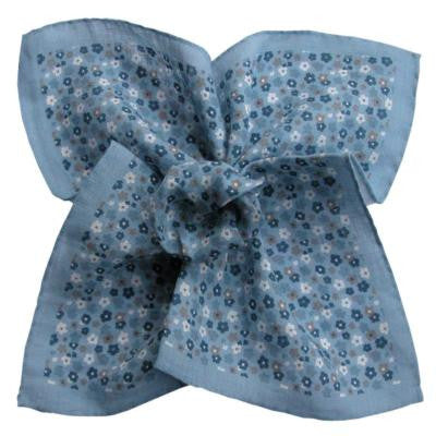 Indigo Silk Pocket Square - D'Italia