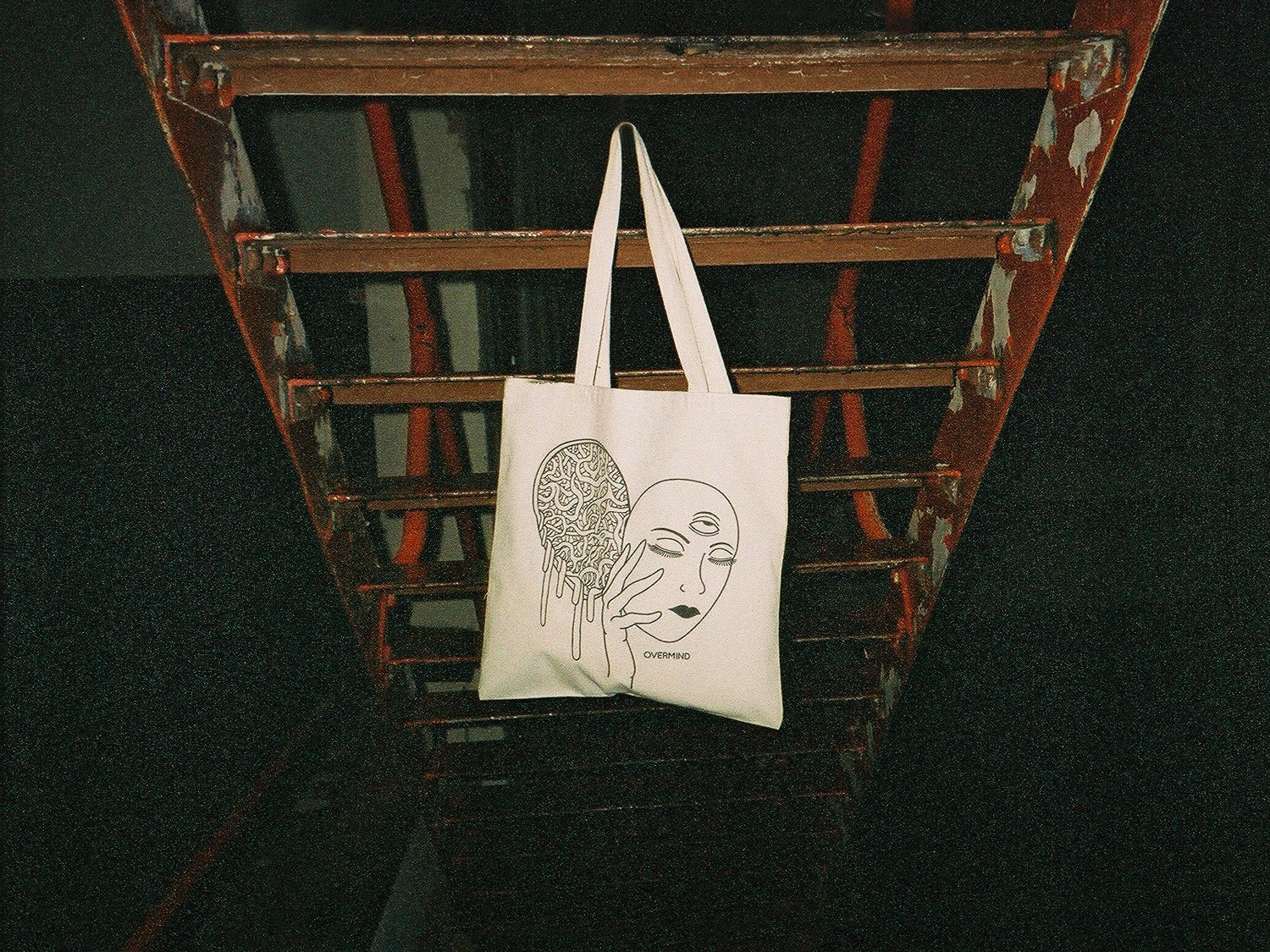 MASK CANVAS TOTE