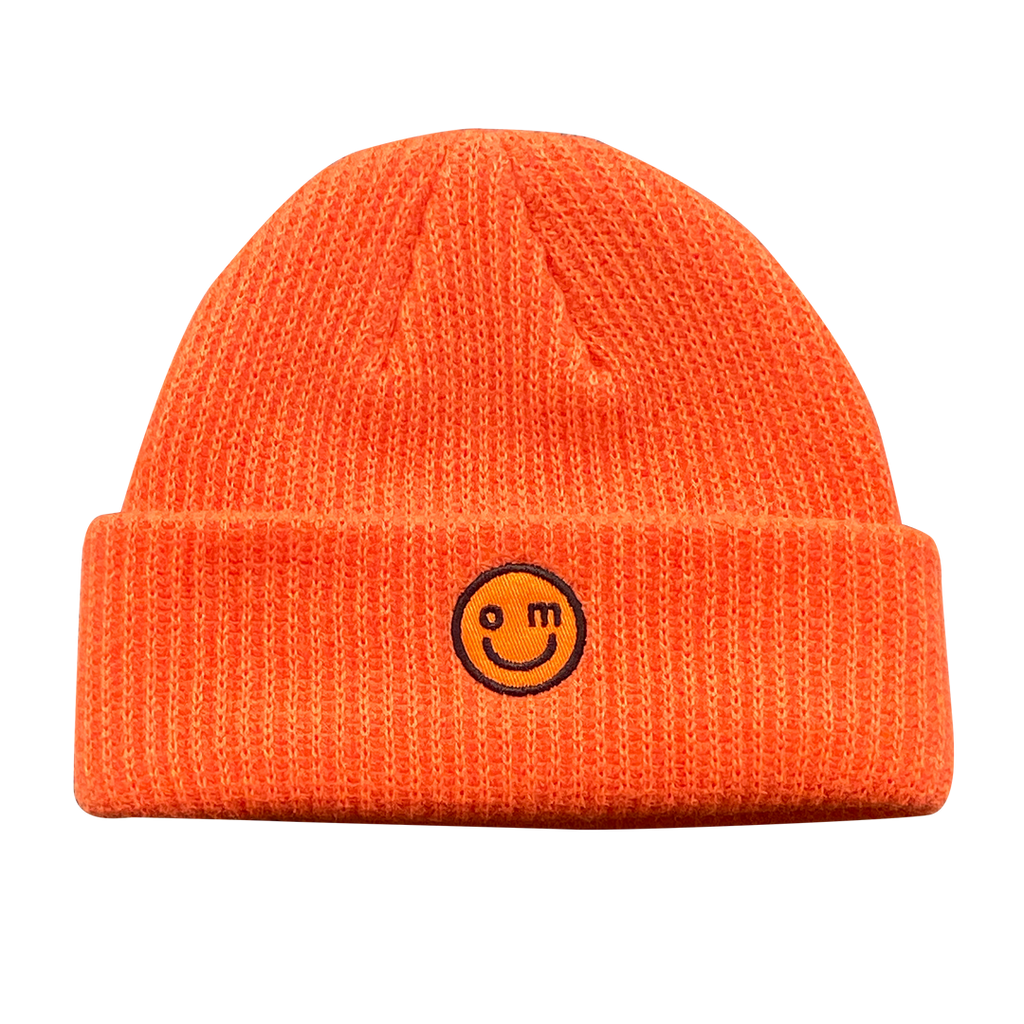 SMILE LOGO BEANIE : ORANGE