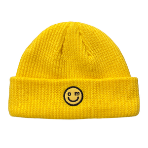 SMILE LOGO BEANIE : YELLOW