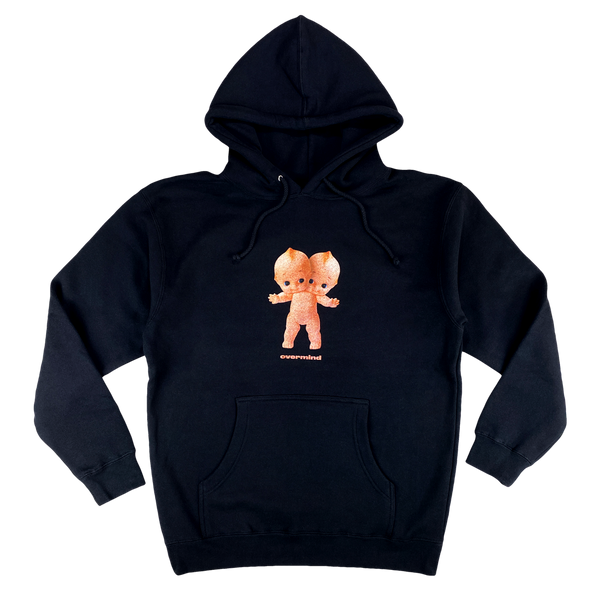 KEWPIE HOODED PULLOVER : BLACK