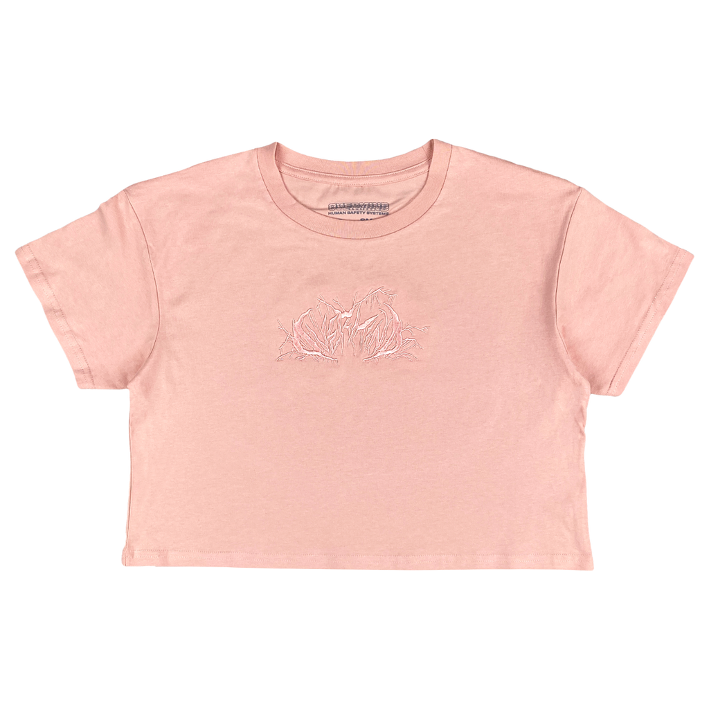 METAL CROP : PALE PINK