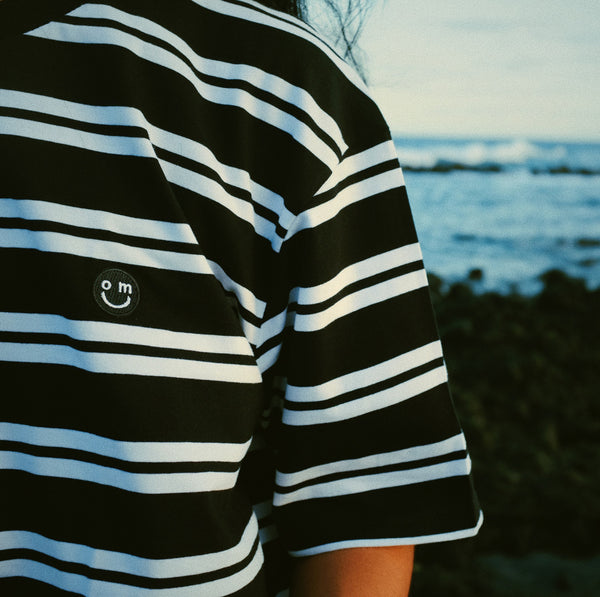 SMILE PATCH : BLACK/WHITE STRIPE