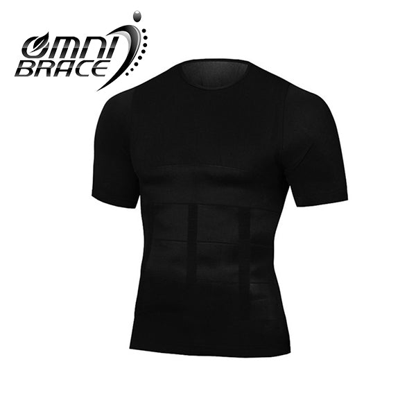 OmniBrace Men's Body Slimming Short Sleeve Compression T-Shirt - OmniBrace