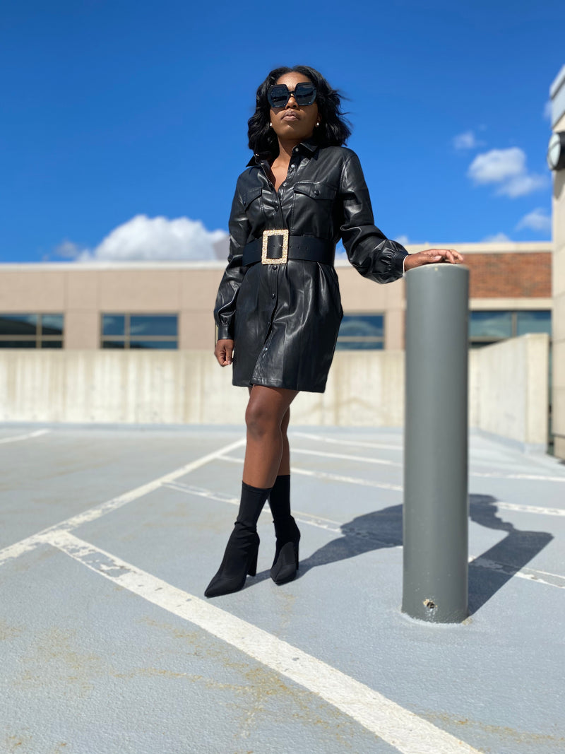 High Maintenance| Vegan Leather Dress