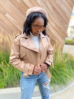 On the Edge| Faux Leather Jacket